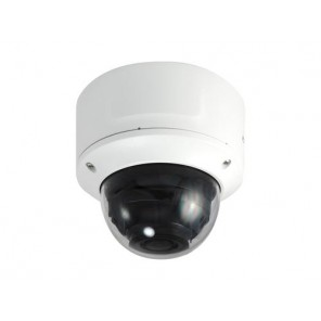 LevelOne GEMINI Zoom Dome IP Network Camera, 8-Megapixel, H.265, 4.3X Optical Zoom, 802.3af PoE, IR LEDs, two-way audio, Indoor/Outdoor, Vandalproof White